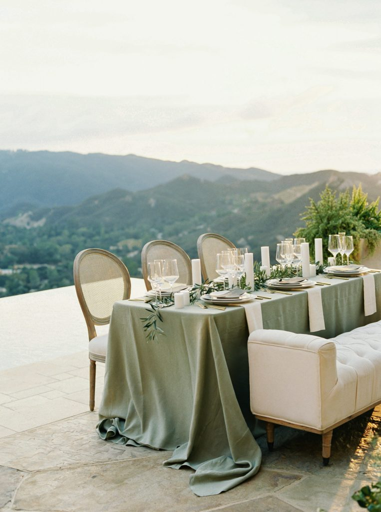 Cane backed chair has a vintage feeling and often feature a neutral color palette with linen
