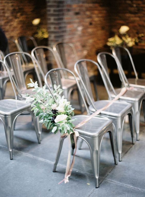 Marais chairs are contemporary metal pieces