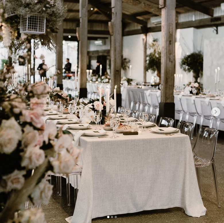 clear ghost chairs are a great modern addition to your tablescape