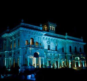 Villa Erba at night