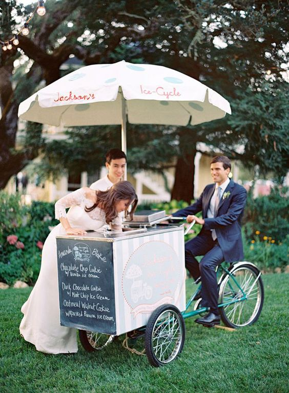 Gelato Cart,  Italian inspired Weddng