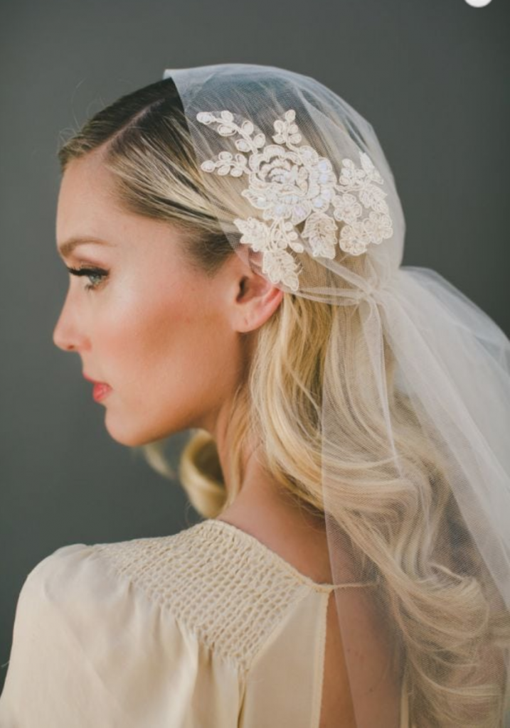 Fate Juliet Cap Veil - The namesake is taken from Shakespeare's Juliette. | www.rossiniweddings.com