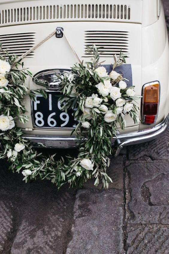 Vintage Fiat 500,  Italian inspired Weddng