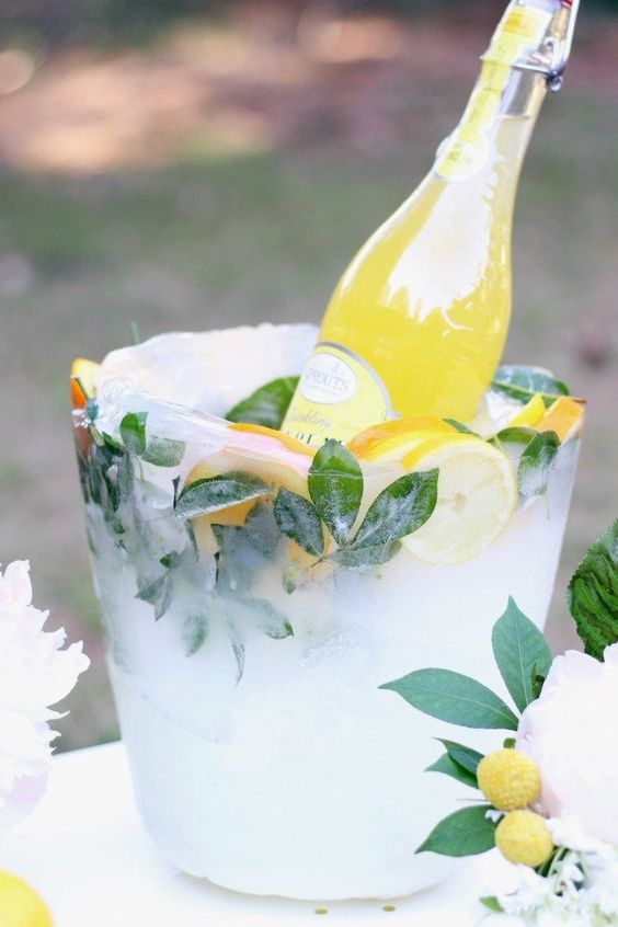Citrus ice bucket,  Italian inspired Weddng
