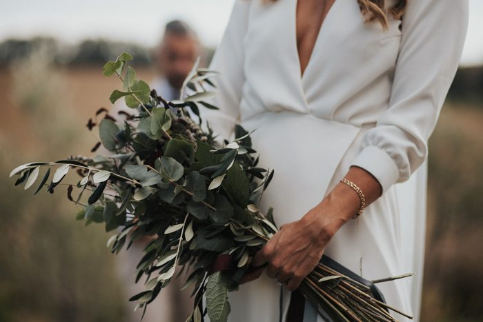 Olive Bouquet,  Italian inspired Weddng