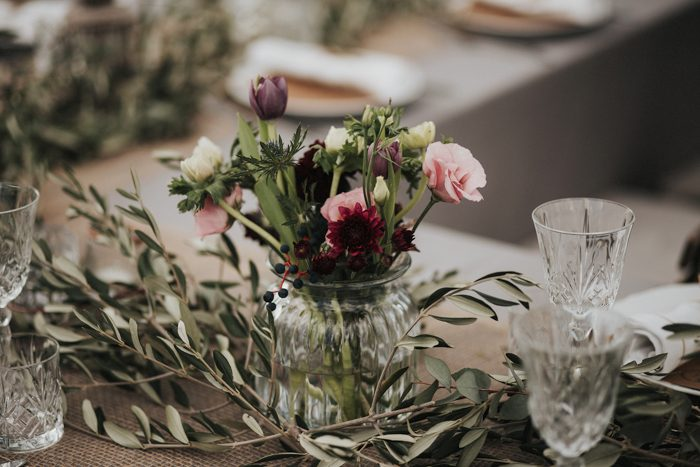 London table, with greenery, Italian inspired Weddng