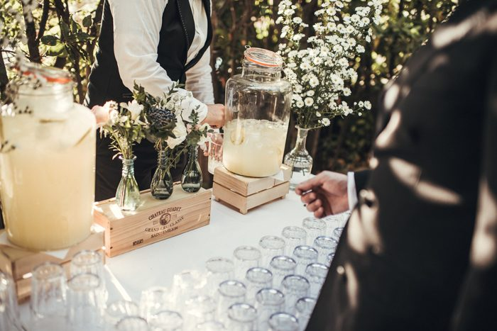 Drinks station, Italian inspired Weddng