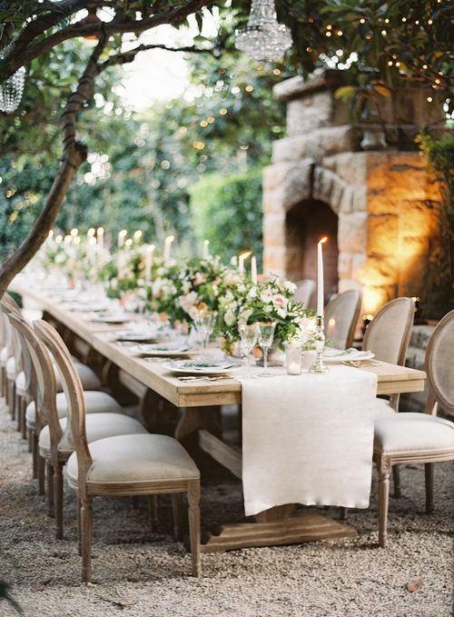 Louis XVI chairs exude opulence and a rich feel to a wedding