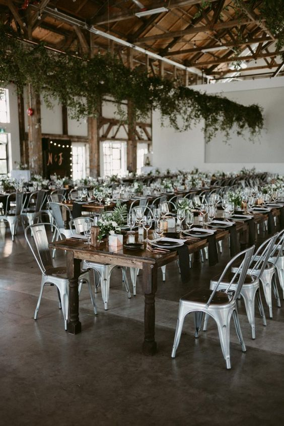 These steely chairs give your wedding an industrial edge