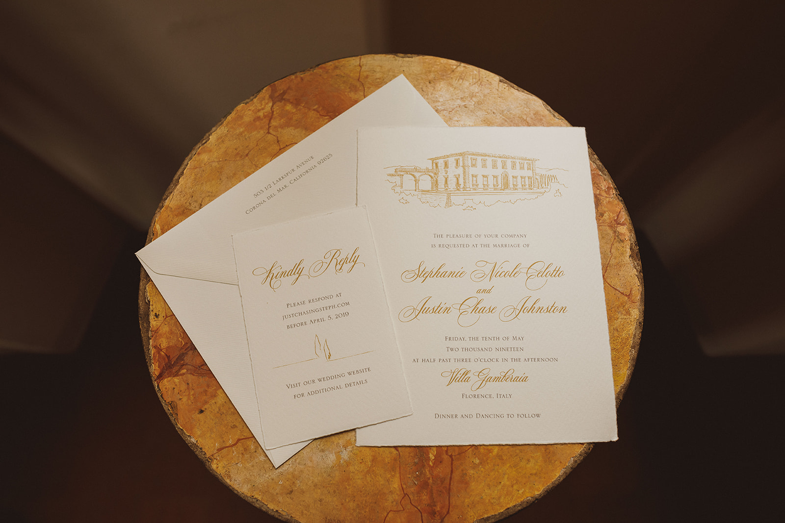 Luxury Villa Tuscany, stationery