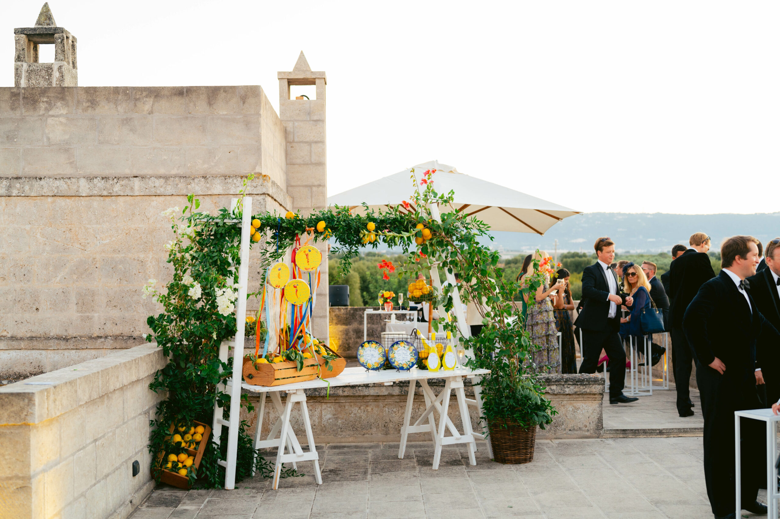 Tablescape Wedding Umbria Italy